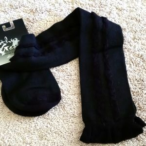 NWT over the knee black socks